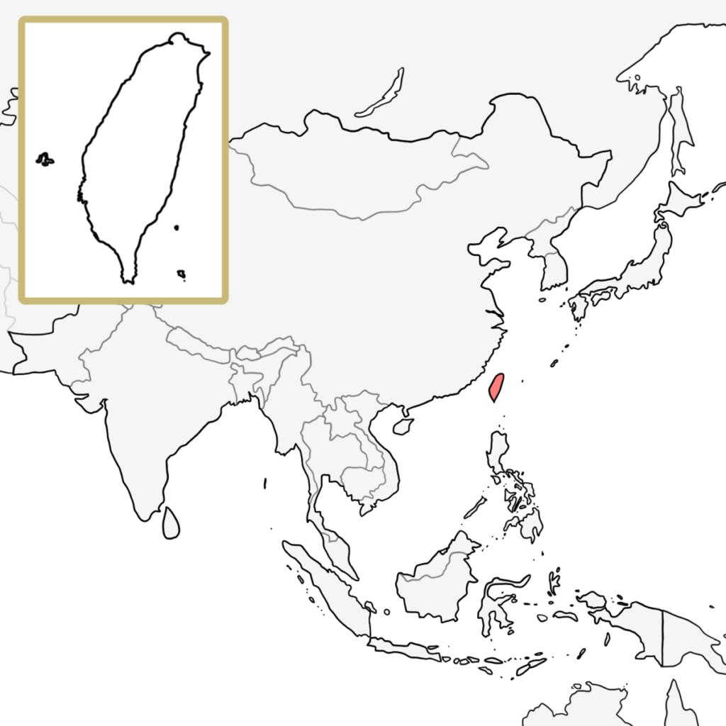 アジア 台湾 地図
