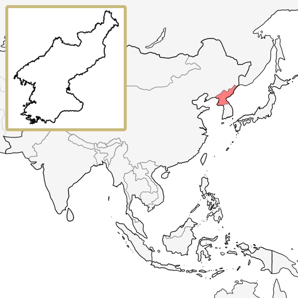 北朝鮮 地図 覚え方