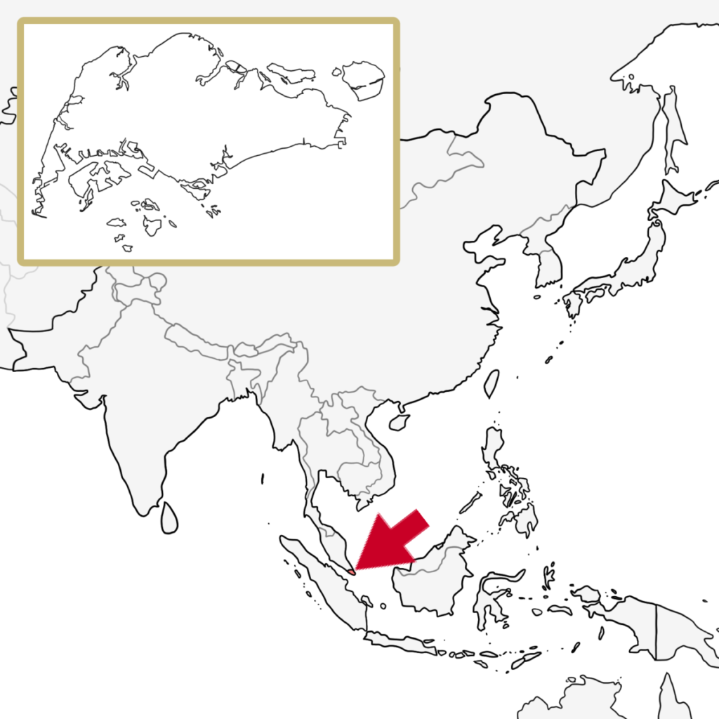 アジア シンガポール 地図