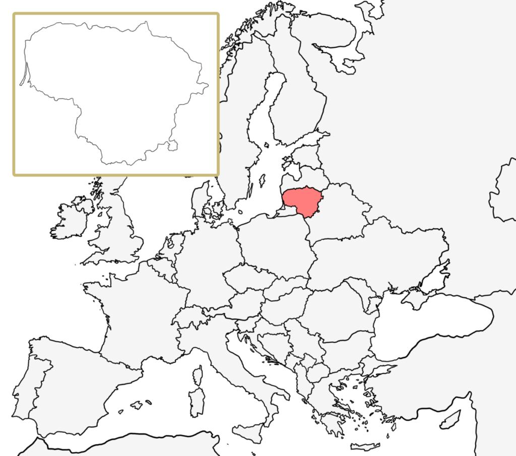 ヨーロッパ 白地図 リトアニア