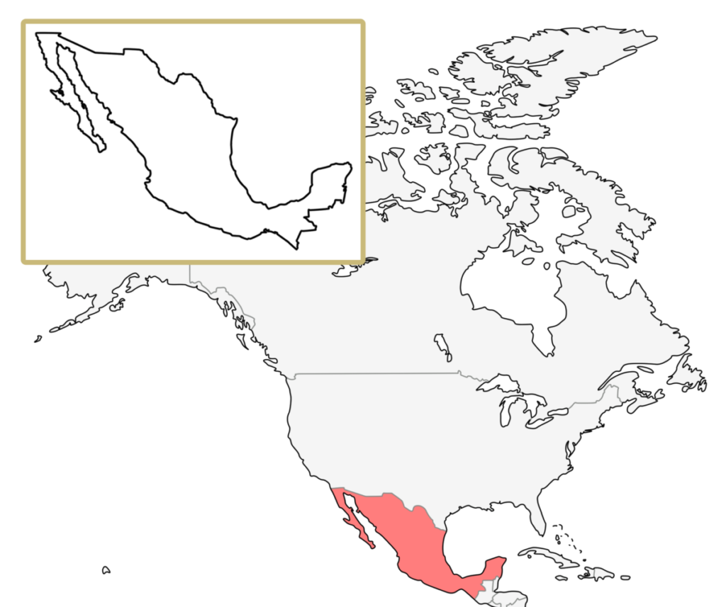 北米 メキシコ 地図