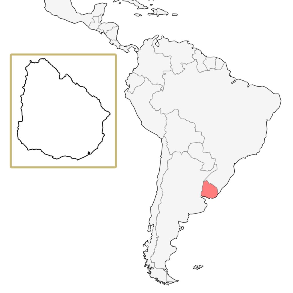 南米 ウルグアイ 地図