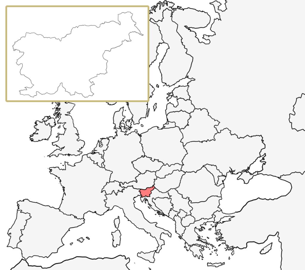 ヨーロッパ 白地図 スロベニア