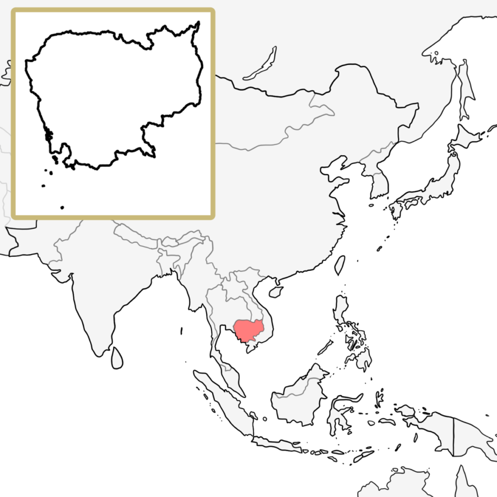 アジア カンボジア 地図