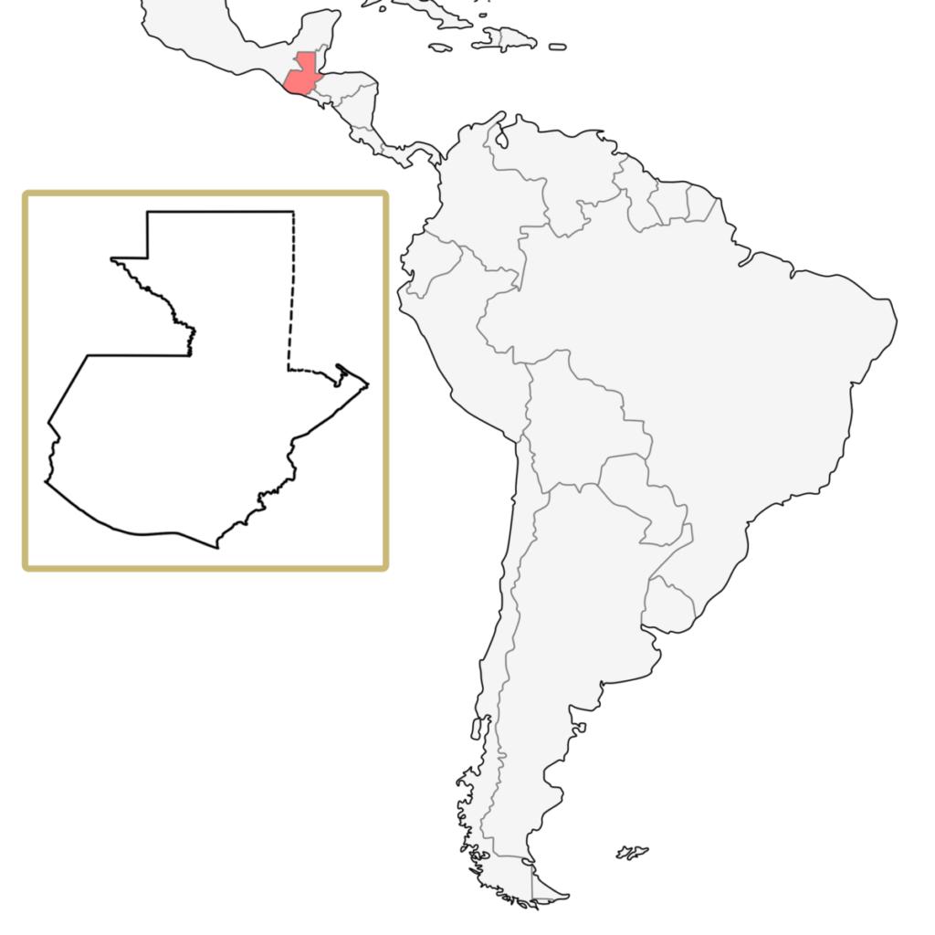 南米 グアテマラ 地図
