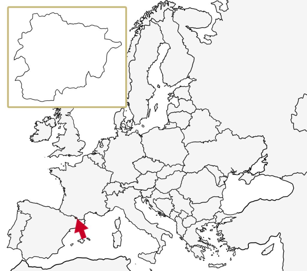 ヨーロッパ 白地図 アンドラ