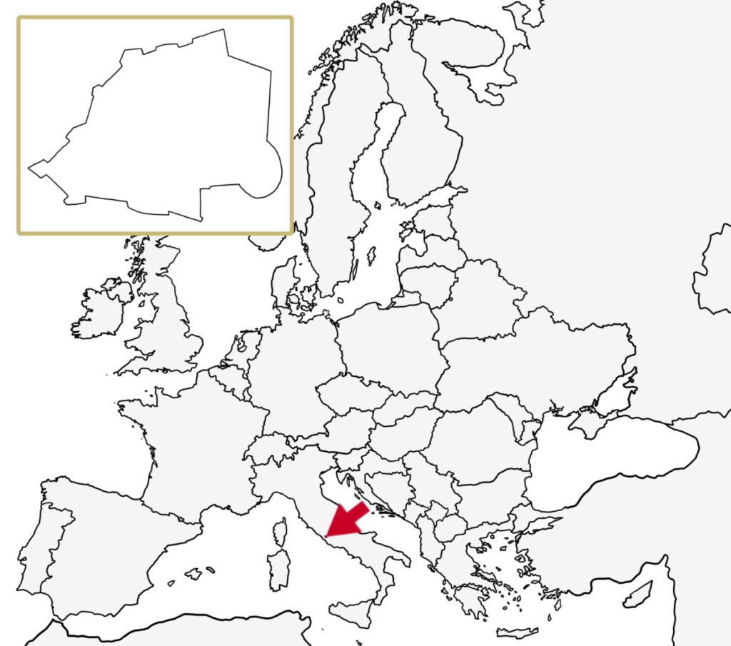 ヨーロッパ 白地図 バチカン