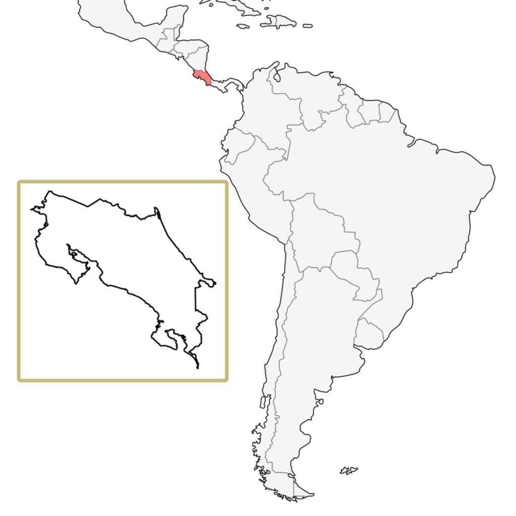 中米 コスタリカ 地図