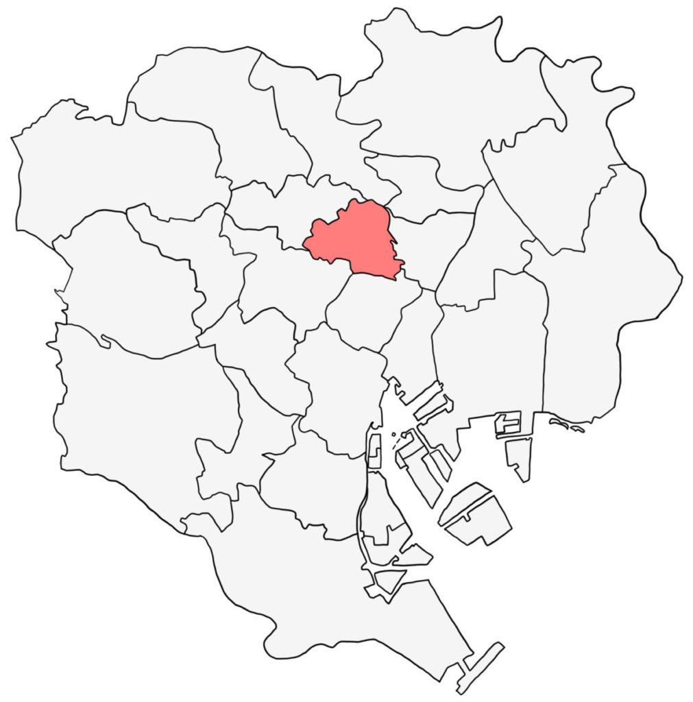 東京23区 文京区 白地図