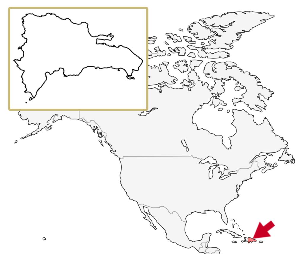 カリブ海地域 ドミニカ共和国 地図