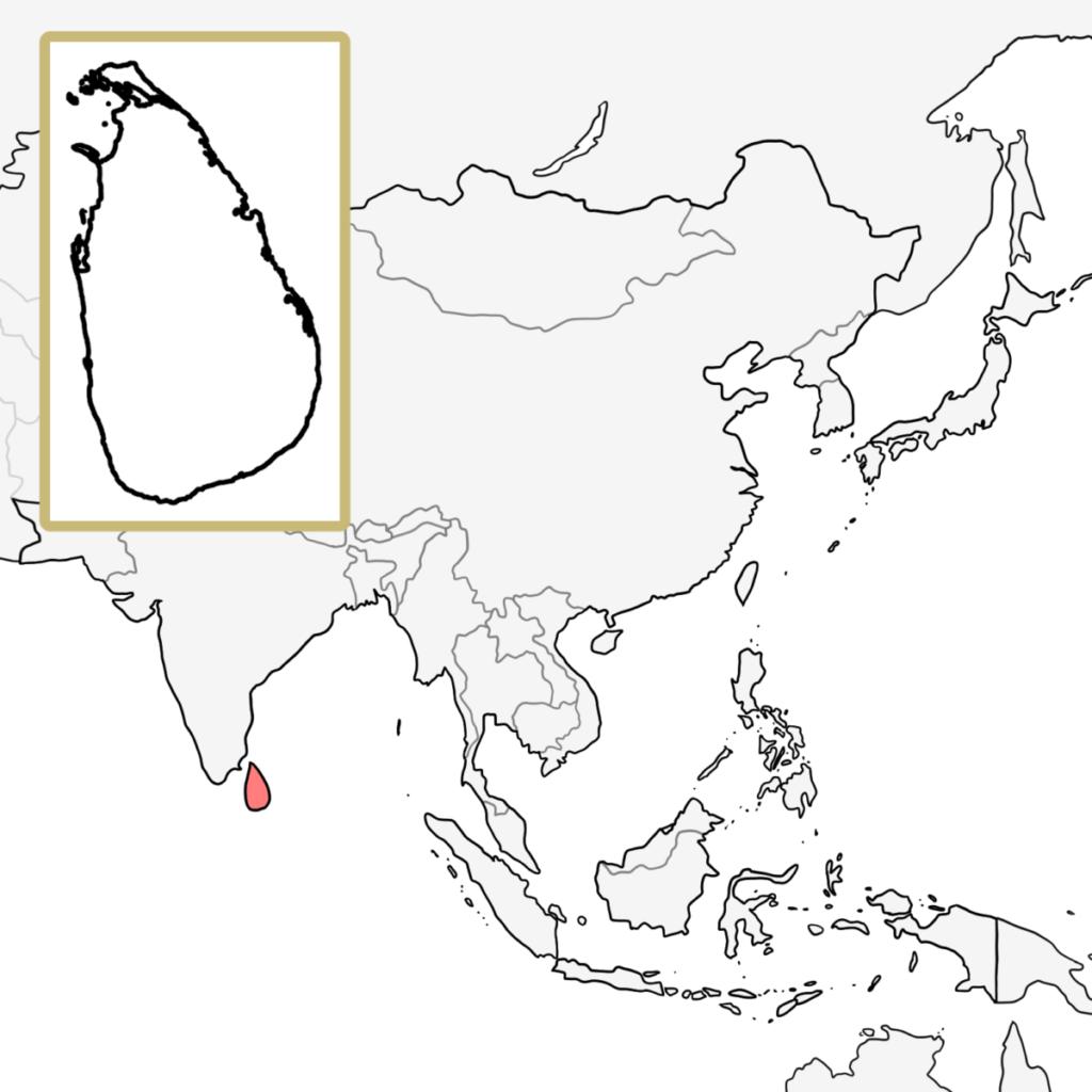 アジア スリランカ 地図