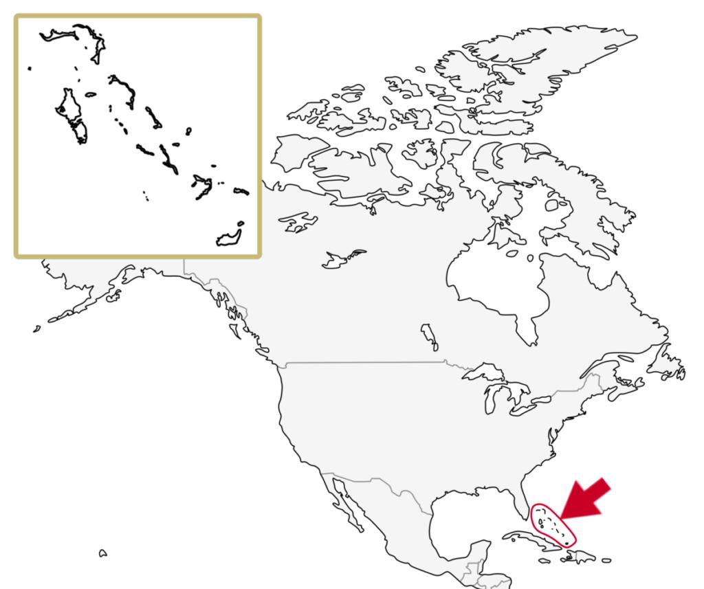 カリブ海地域 バハマ 地図