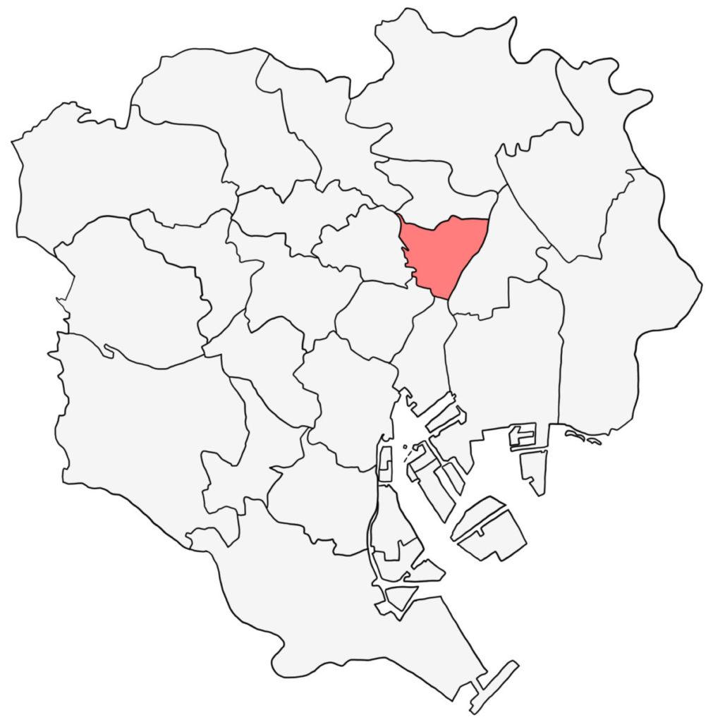 東京23区 台東区 白地図