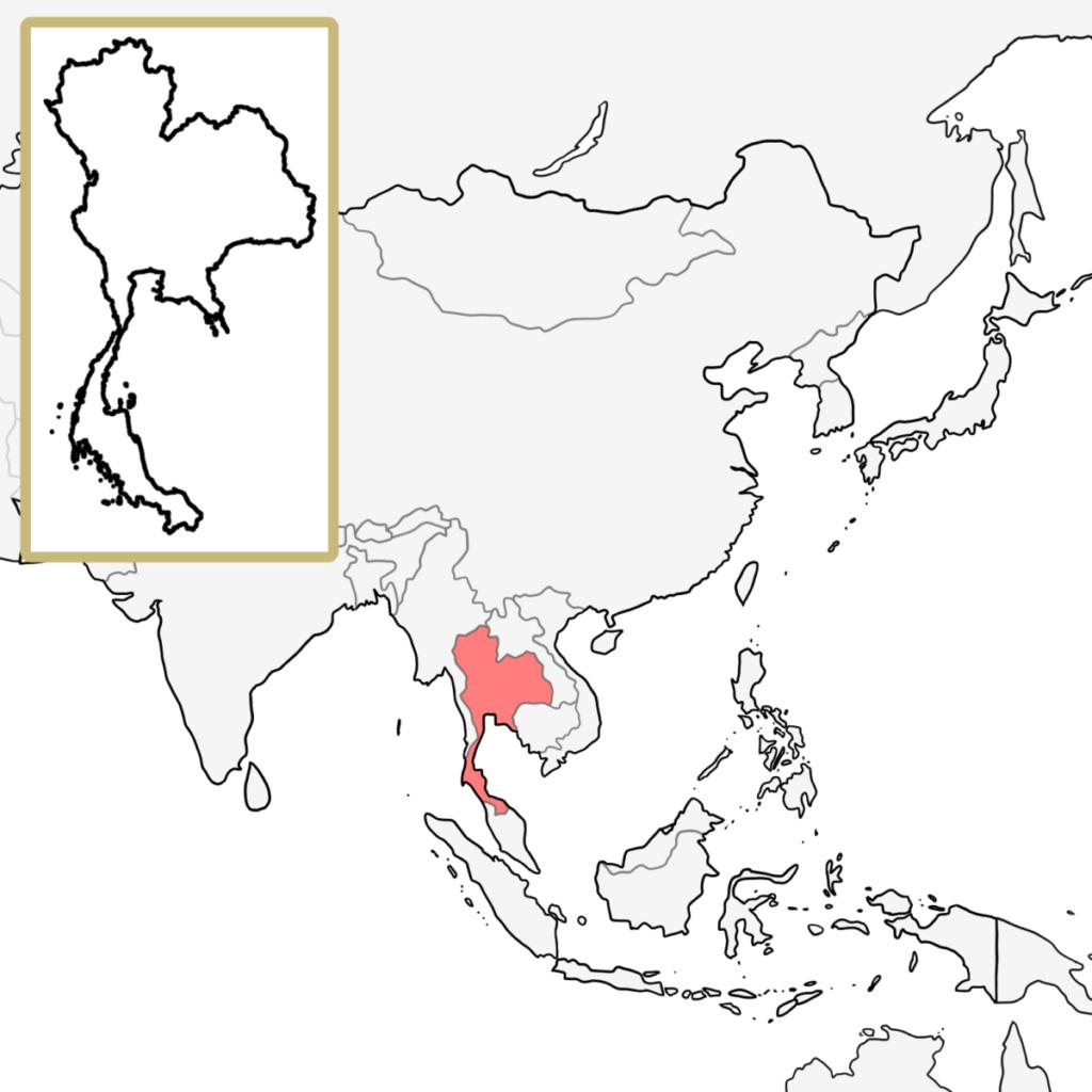 アジア タイ 地図