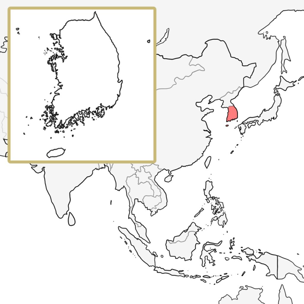 アジア 韓国 覚え方