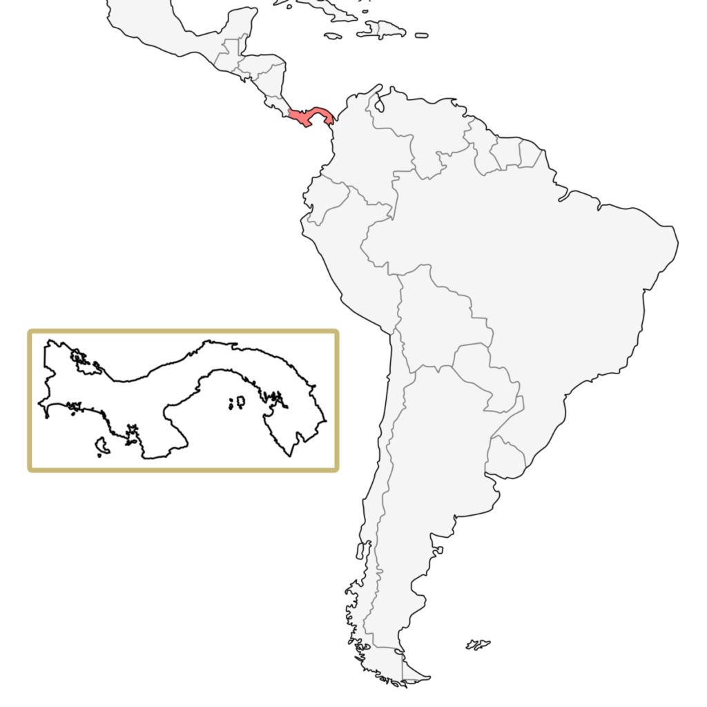 中米 パナマ 地図