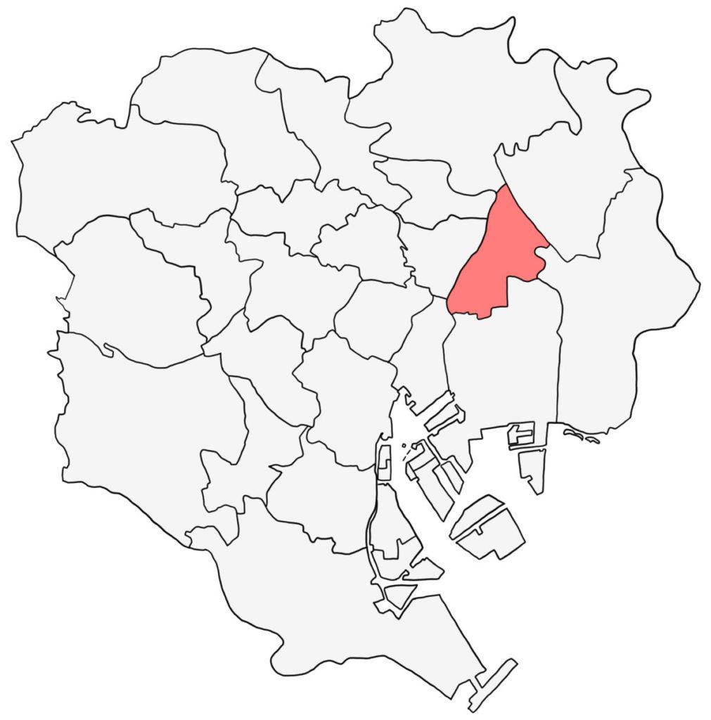 東京23区 墨田区 白地図
