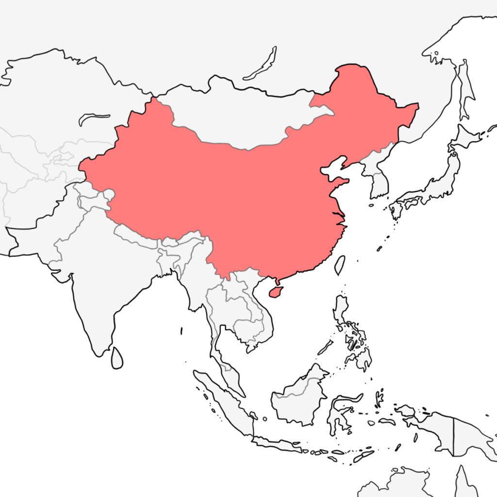アジア 中国 地図