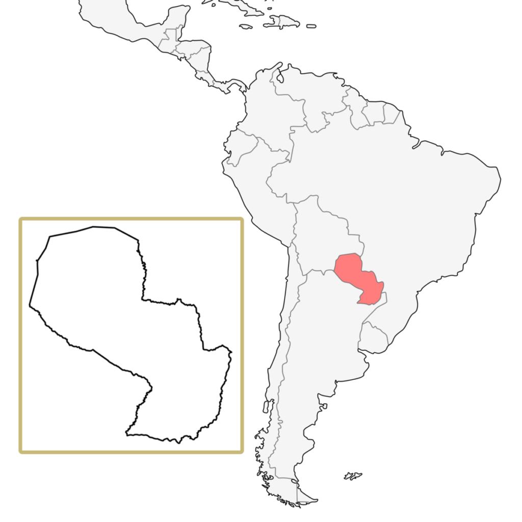 南米 パラグアイ 地図