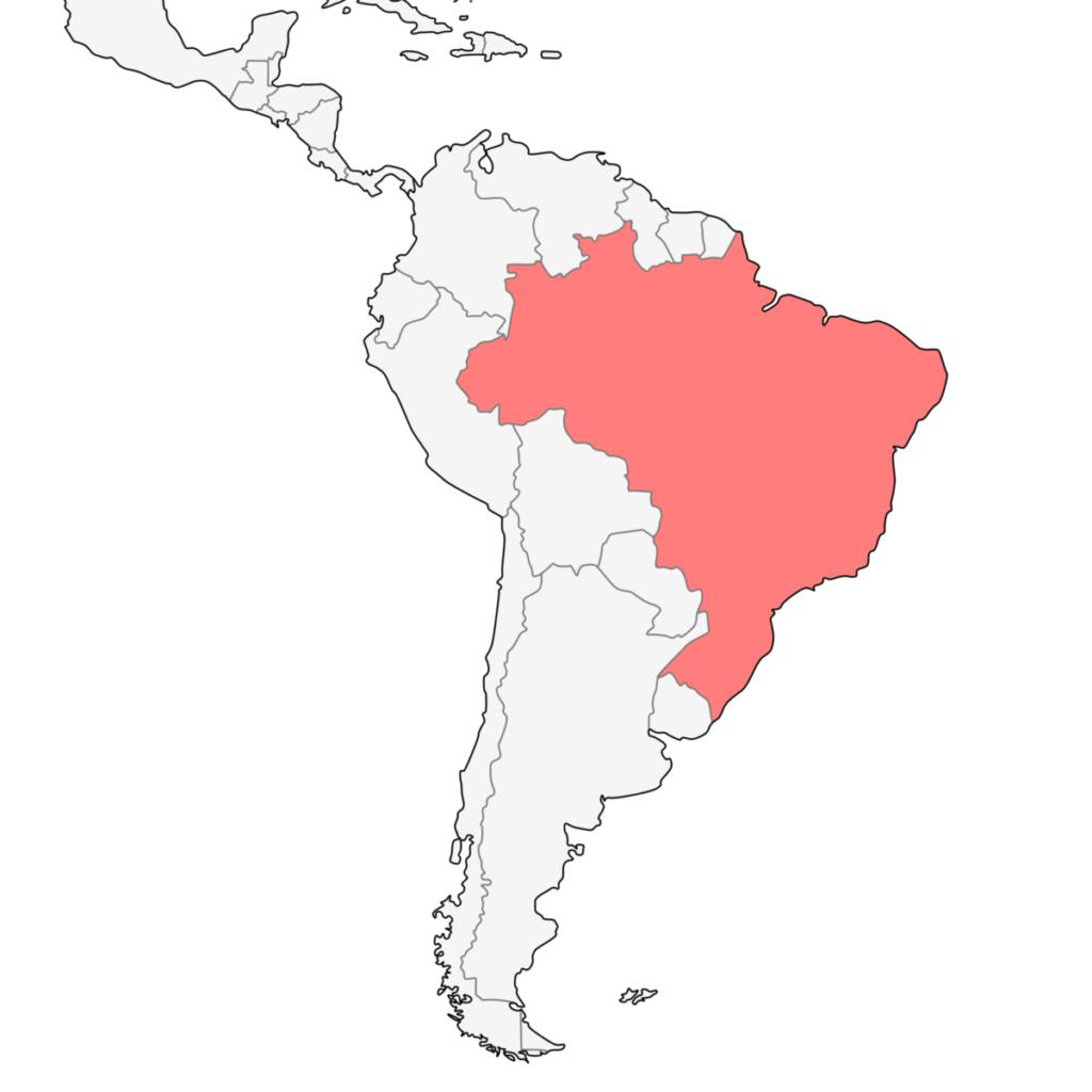 南米 ブラジル 地図