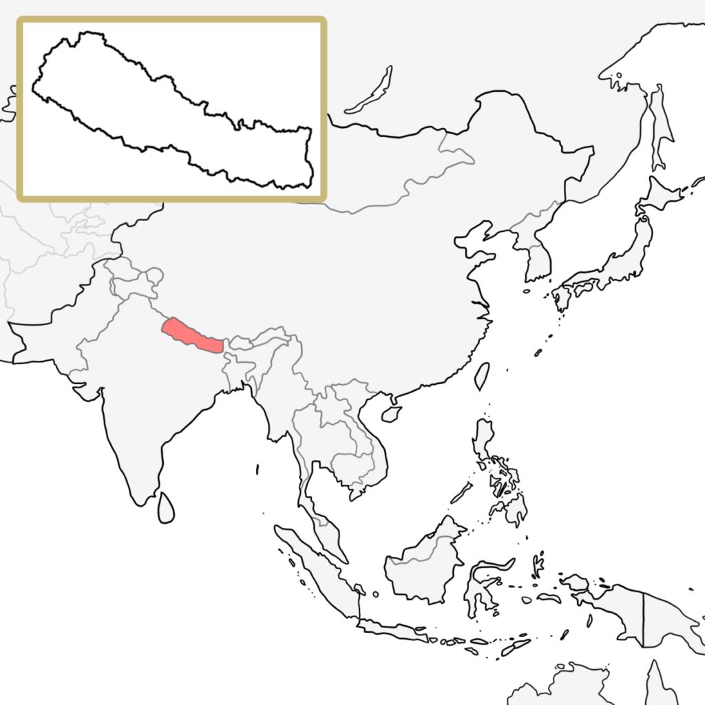 アジア ネパール 地図