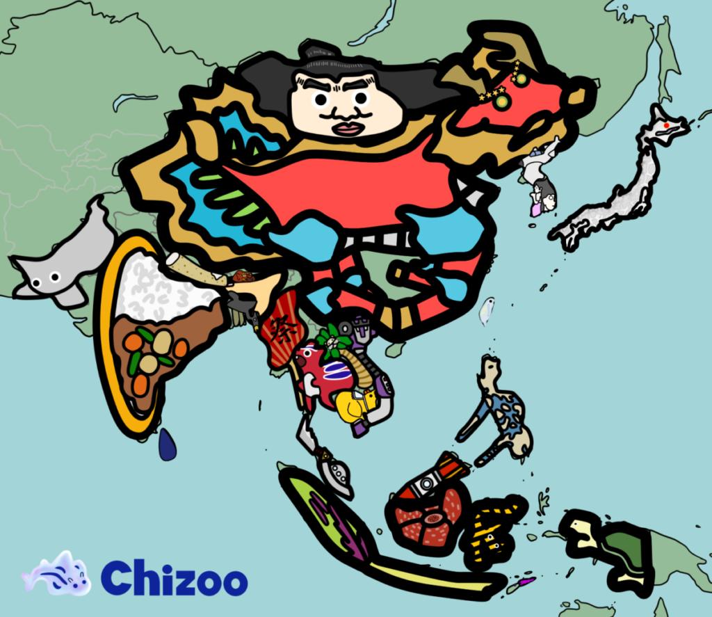 世界 アジア 国名 地図 覚え方 Chizoo