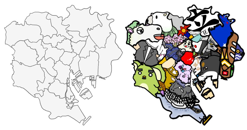 東京23区 地図 覚え方