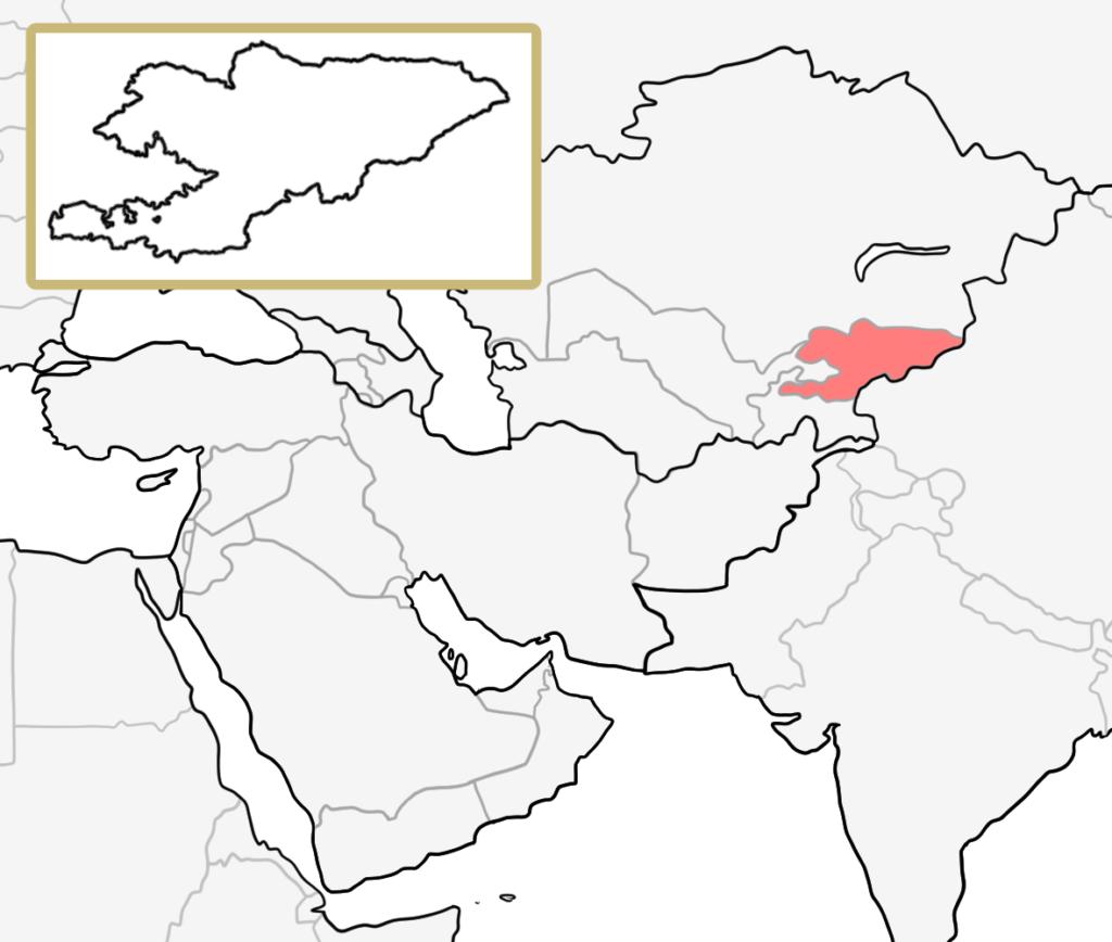 中央アジア キプロス 地図