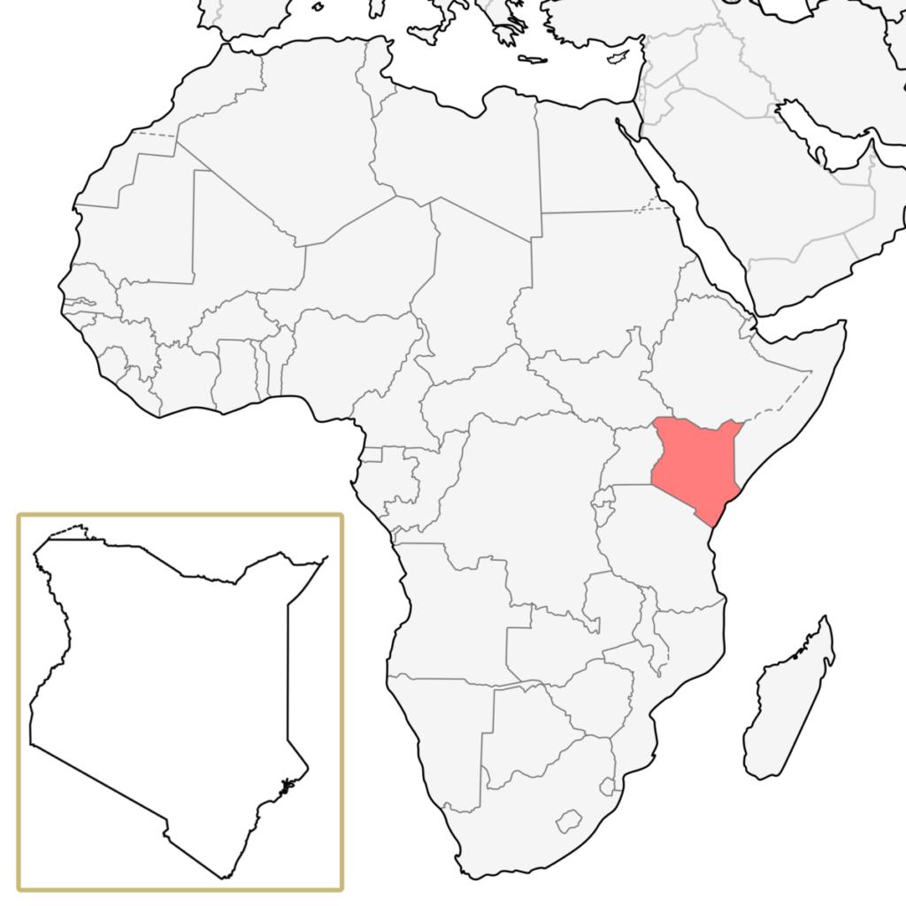 ケニア アフリカ 地図