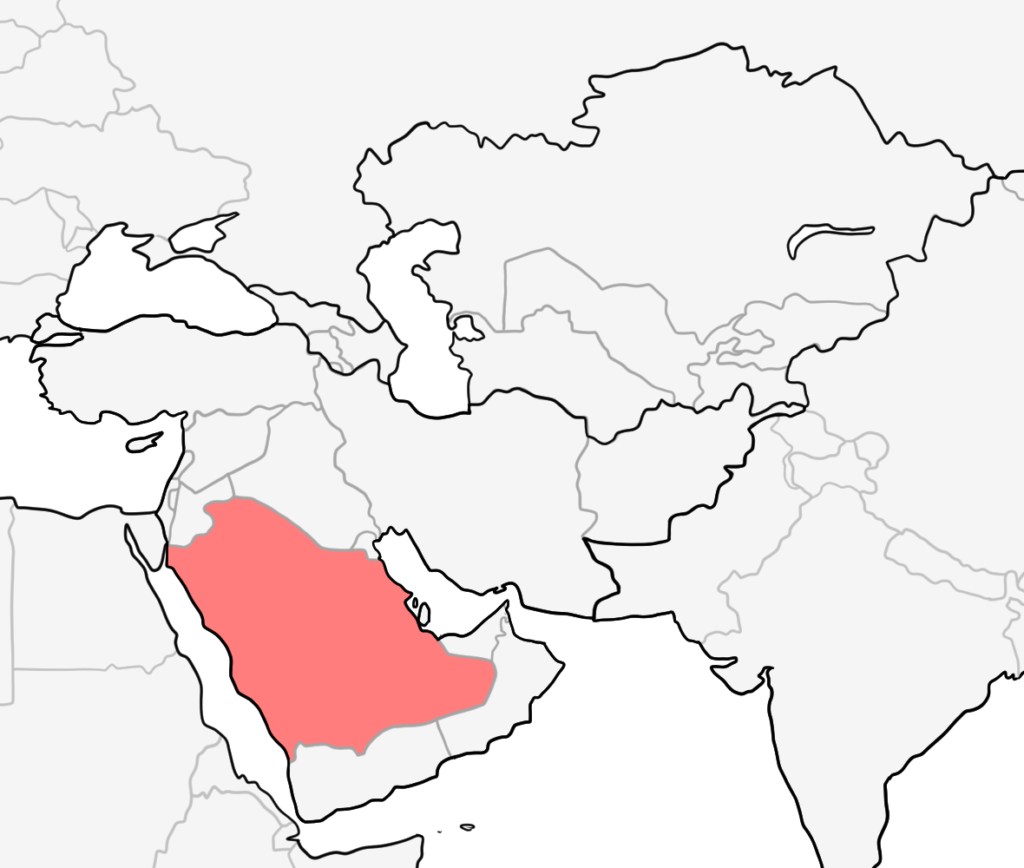 中東 サウジアラビア 地図