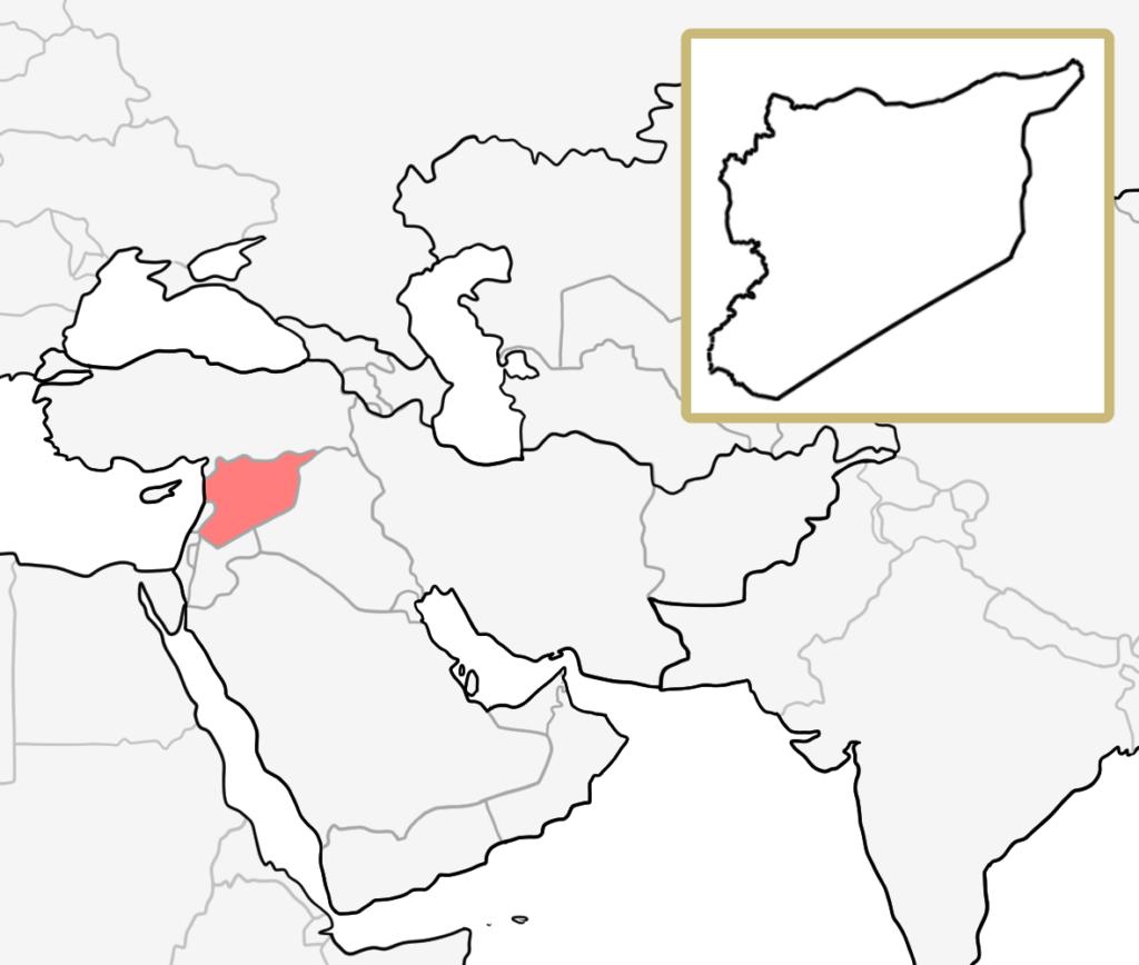 中東 シリア 地図