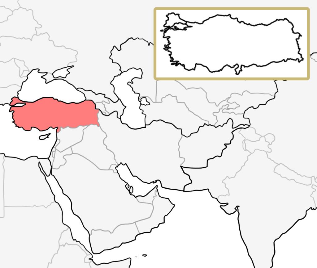 中東 トルコ 地図