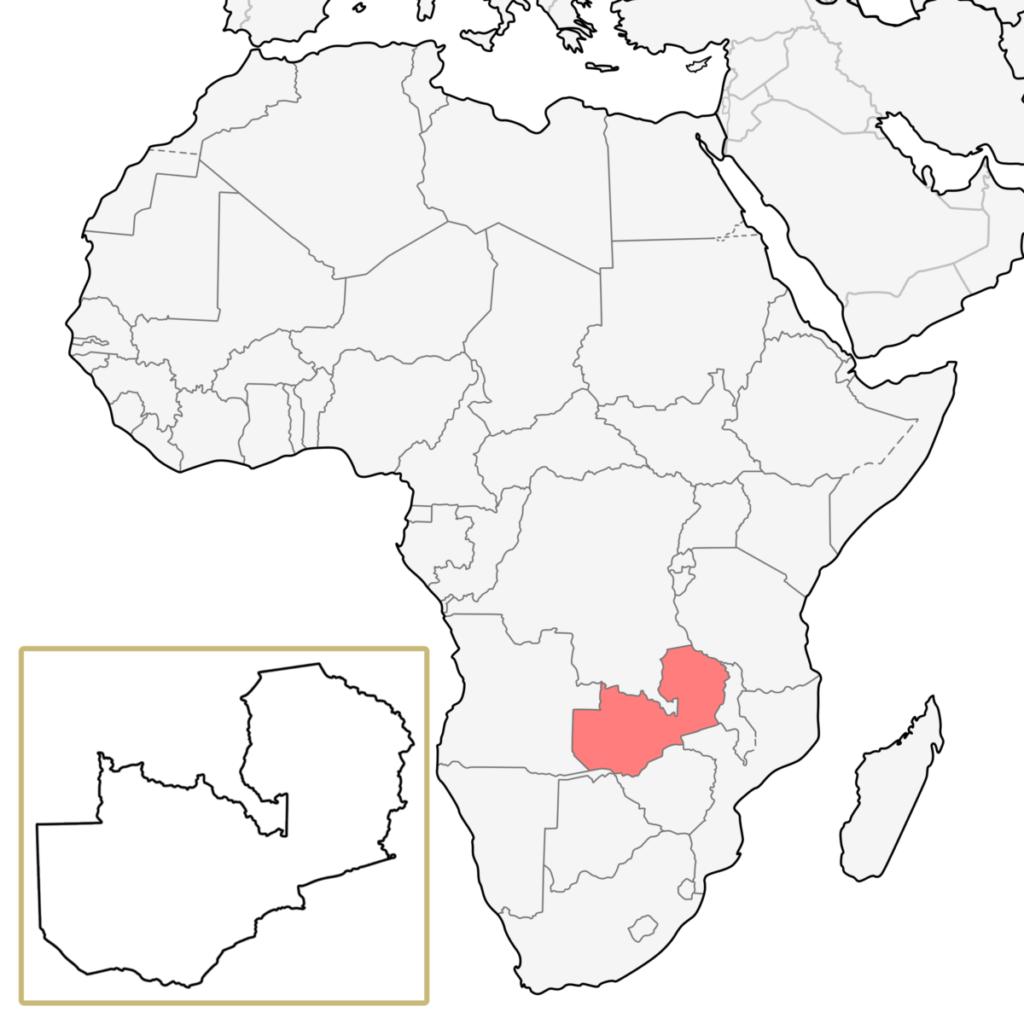 ザンビア アフリカ 地図
