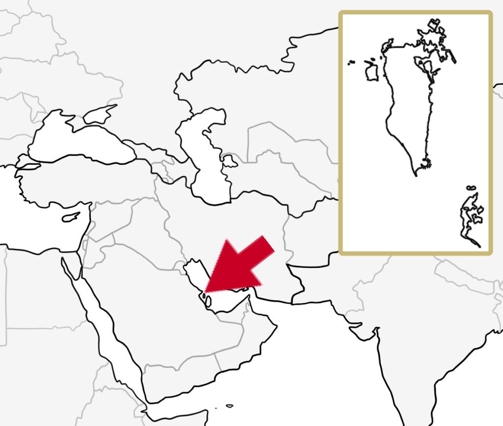 中東 バーレーン 地図