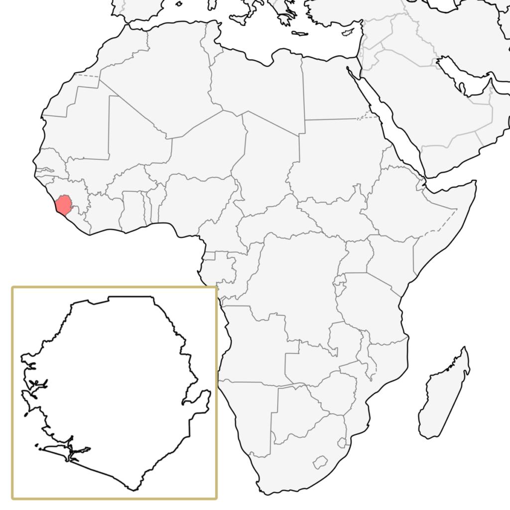 シエラレオネ アフリカ 地図