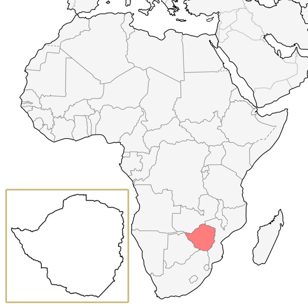 ジンバブエ アフリカ 地図