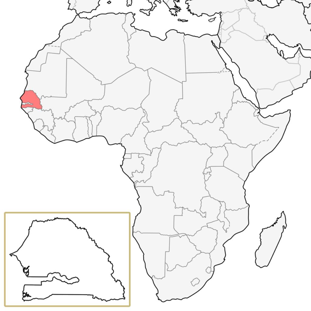 セネガル アフリカ 地図