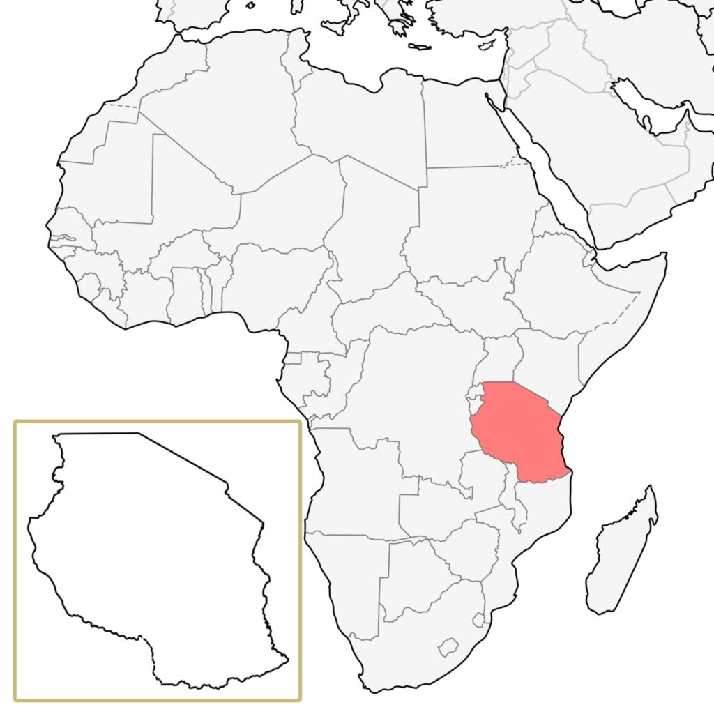 タンザニア アフリカ 地図