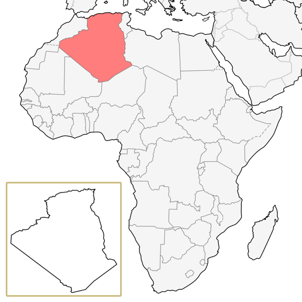 アフリカ アルジェリア 地図