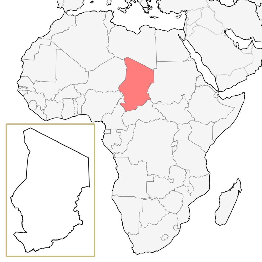 チャド アフリカ 地図