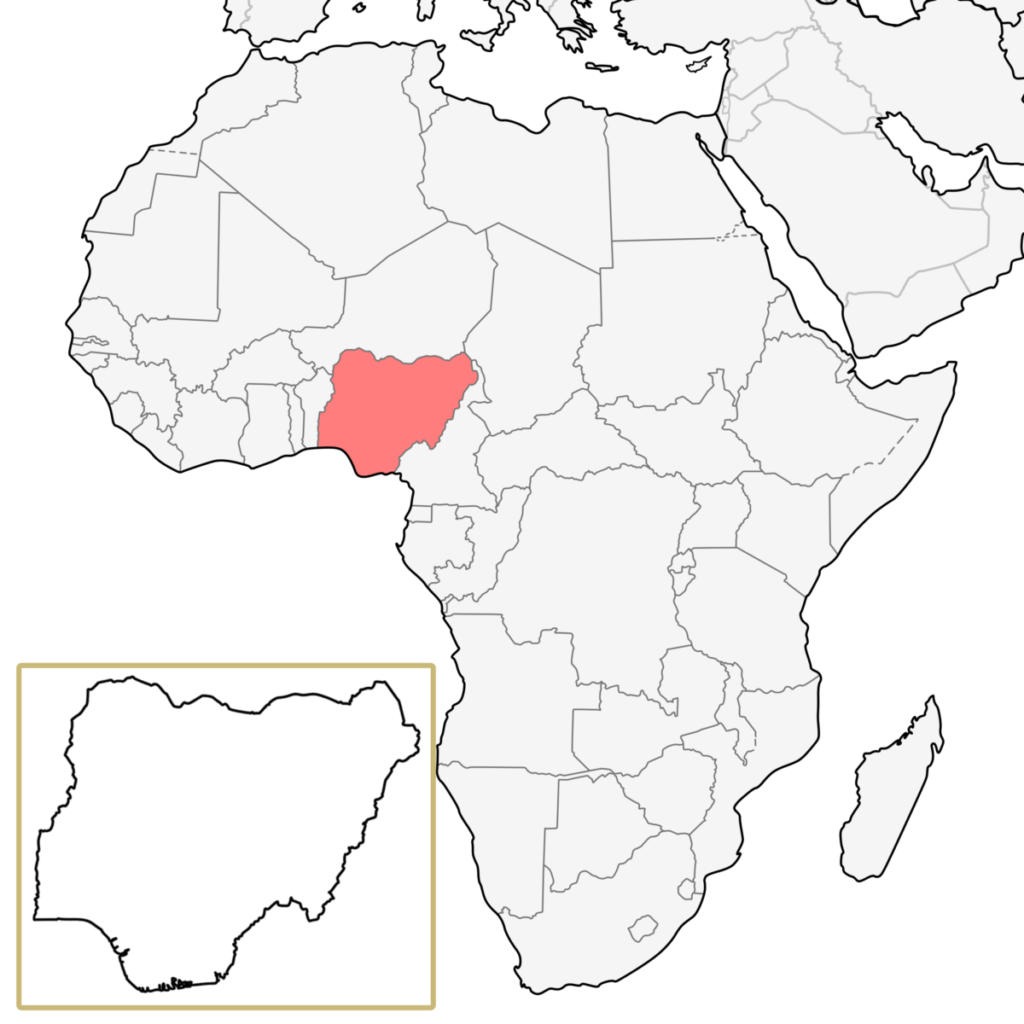 ナイジェリア アフリカ 地図