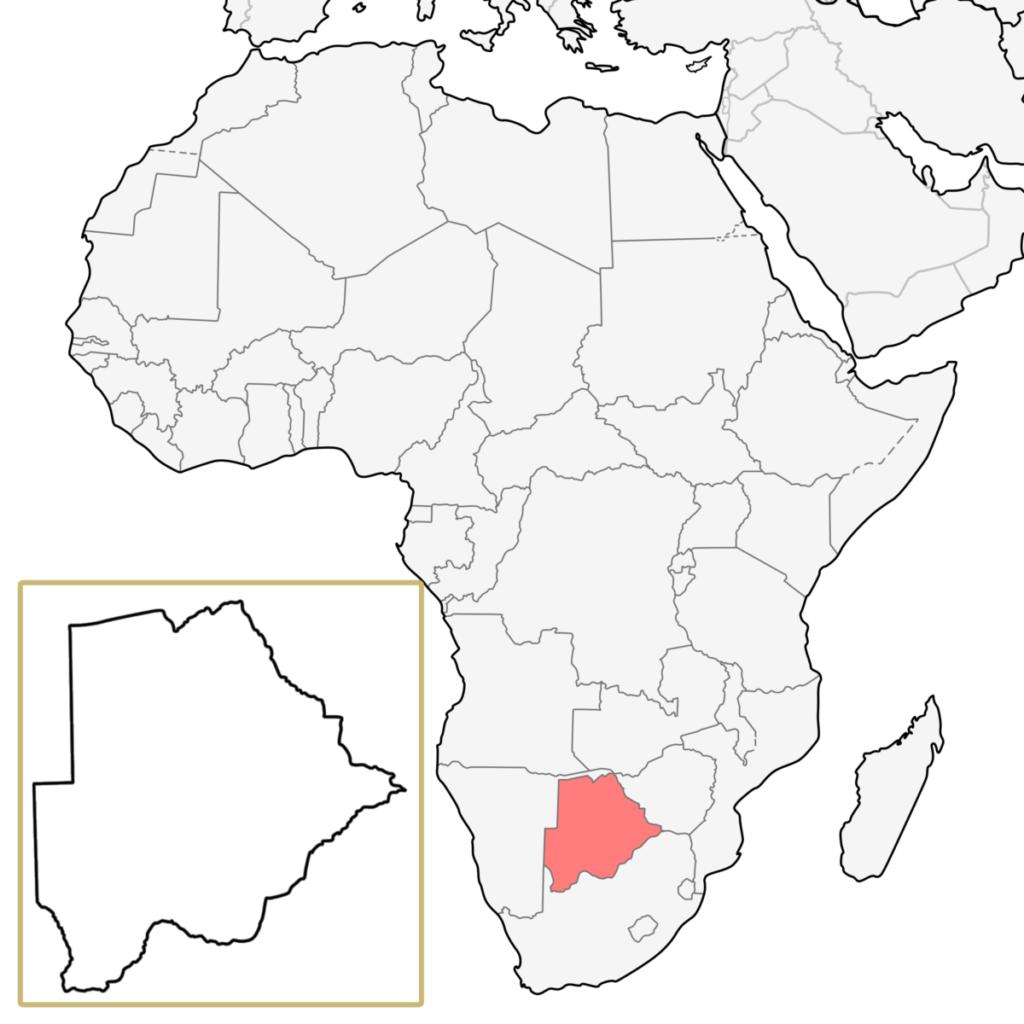 ボツワナ アフリカ 地図