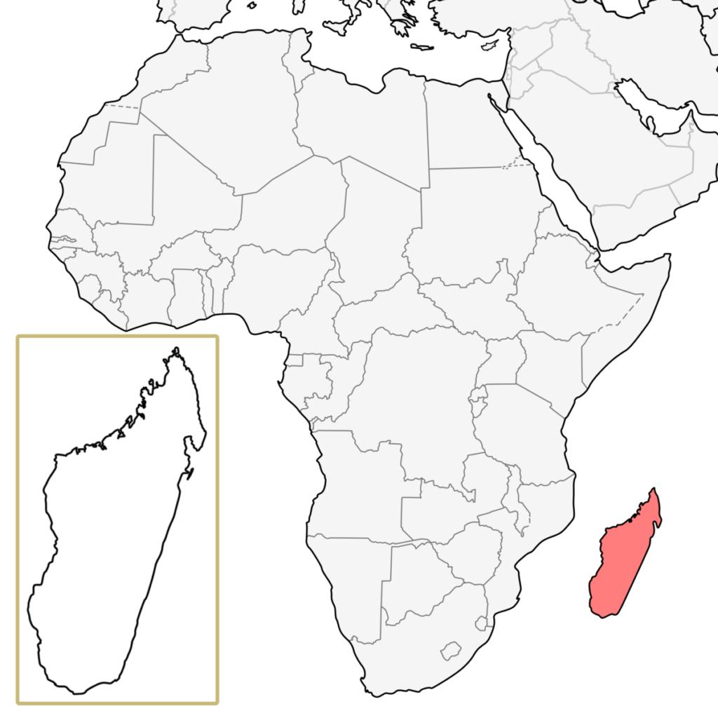 マダガスカル アフリカ 地図