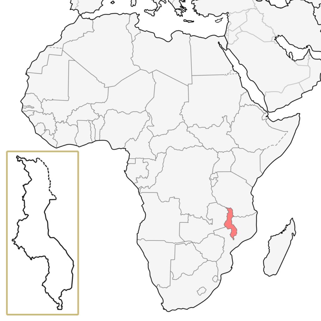マラウイ アフリカ 地図