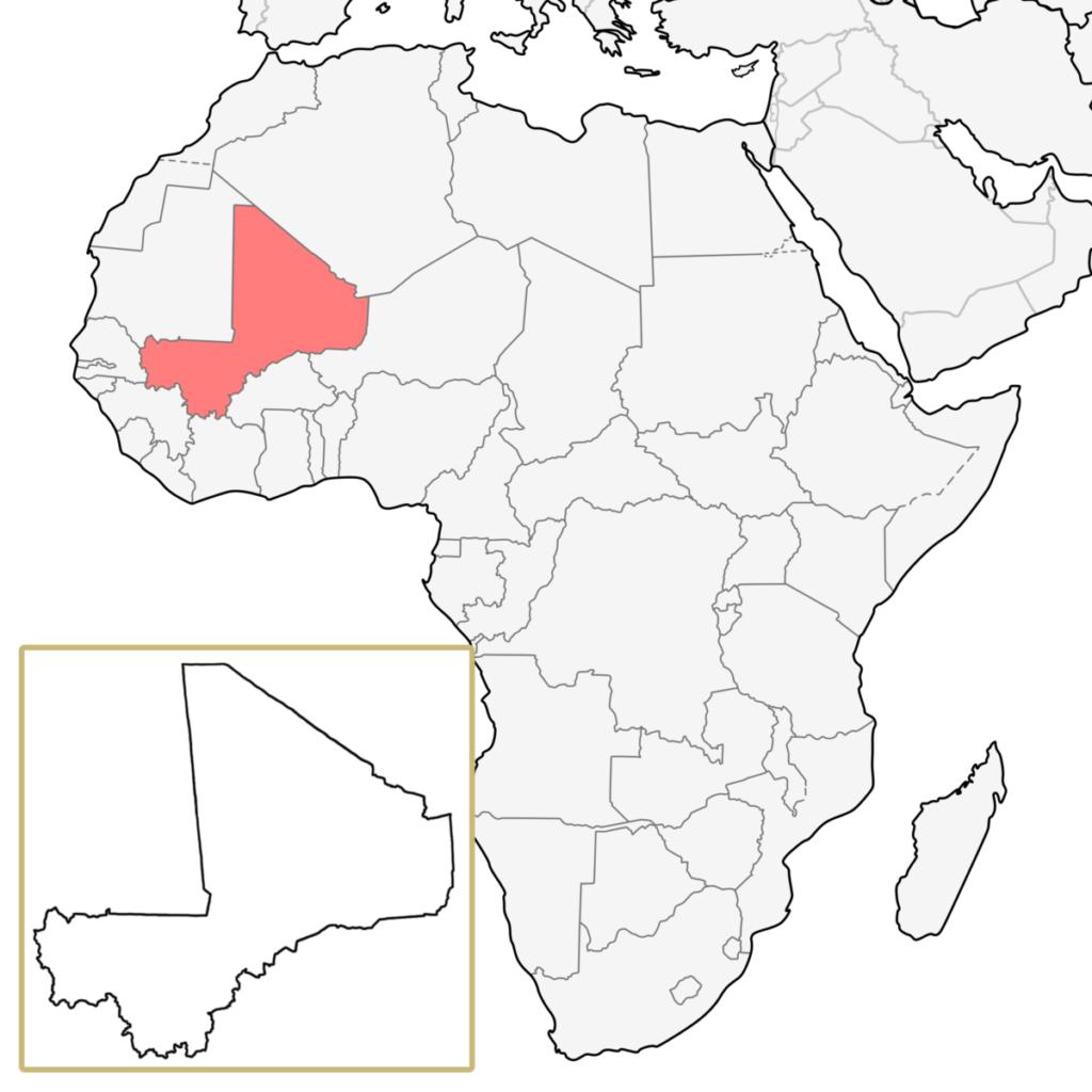 マリ アフリカ 地図