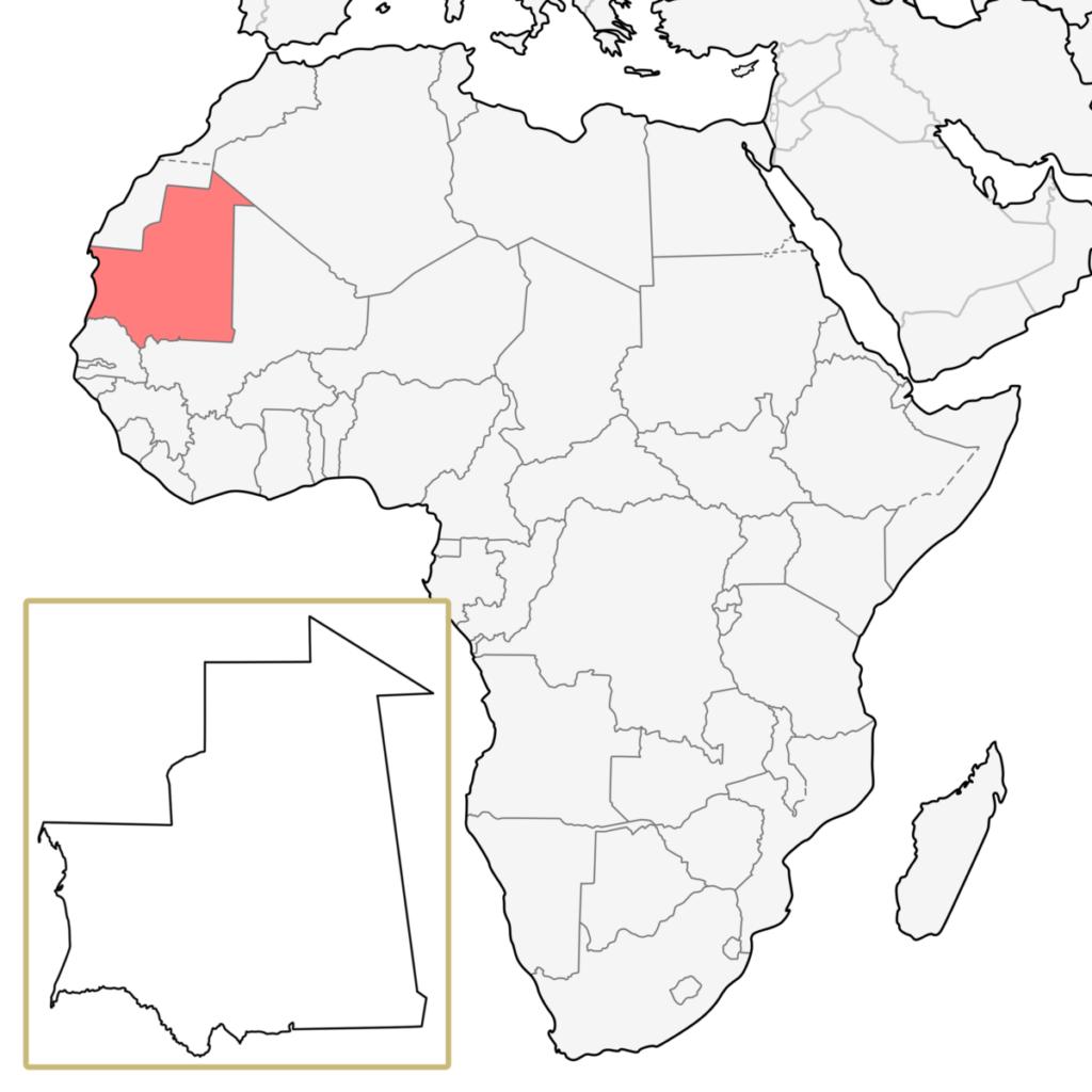 モーリタニア アフリカ 地図