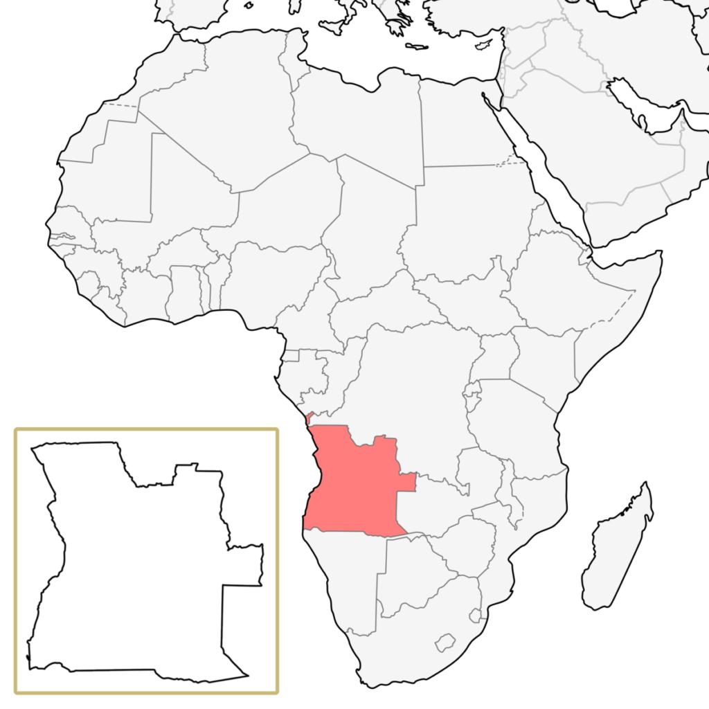 アフリカ アンゴラ 地図