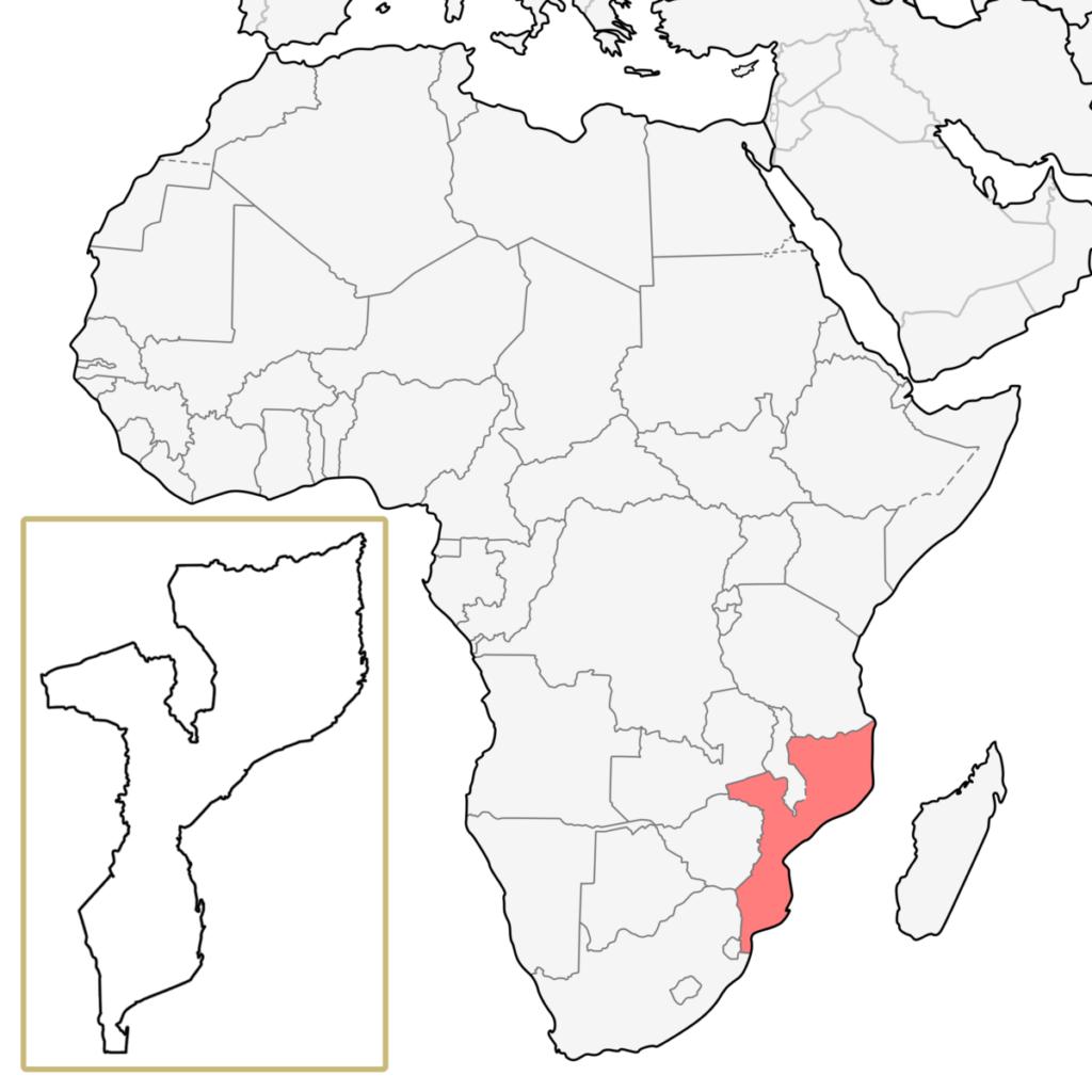 モザンビーク アフリカ 地図