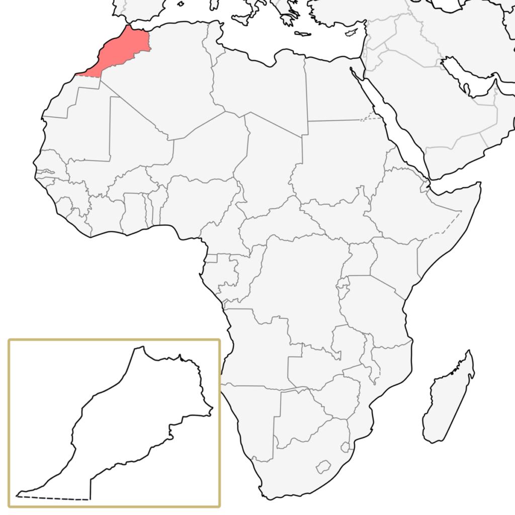 モロッコ アフリカ 地図
