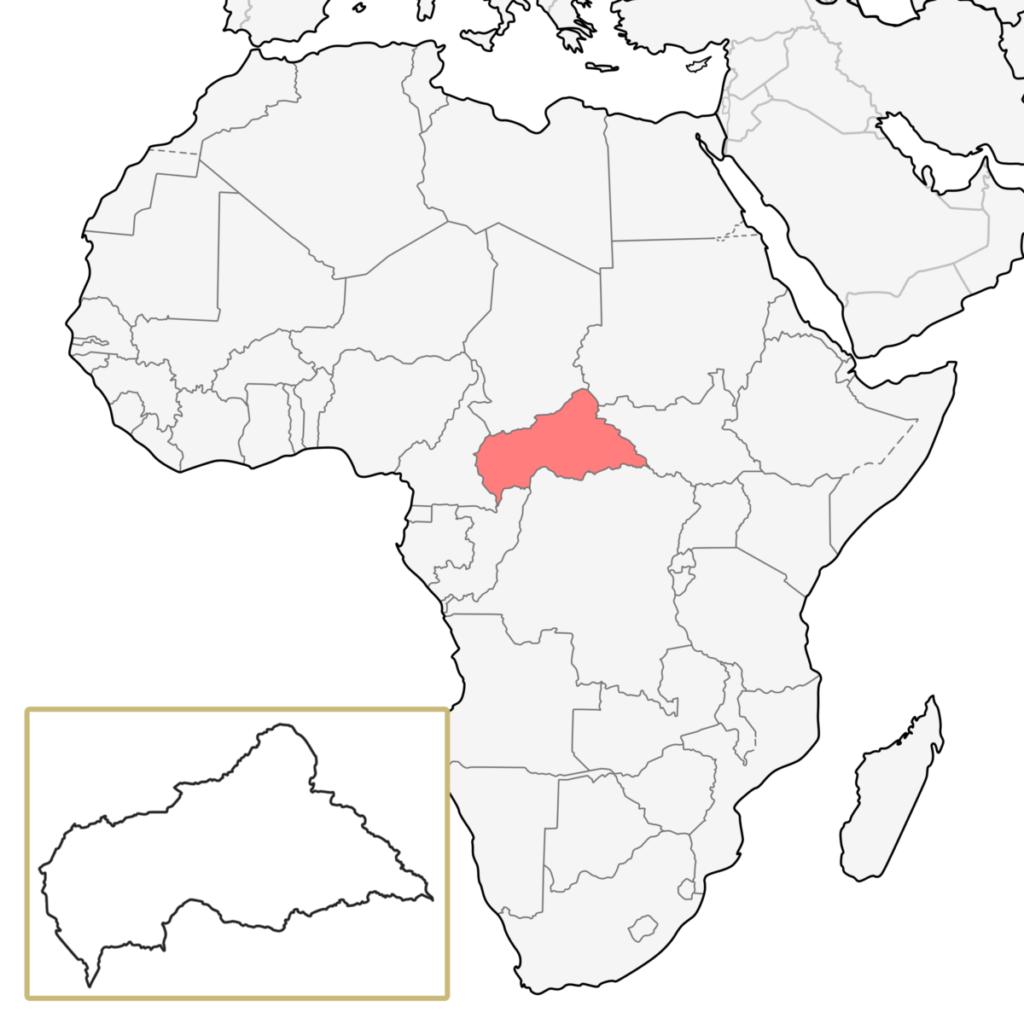 中央アフリカ アフリカ 地図